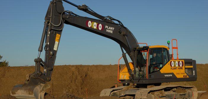 A trio of EC220Es for DAB Civil Engineering Contractors