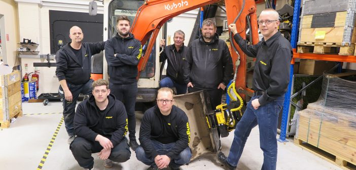 Engcon UK's new hub and team of tiltrotator experts