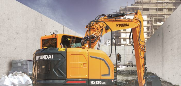 Hyundai Construction Equipment launches the brand-new HX130 LCR crawler excavator