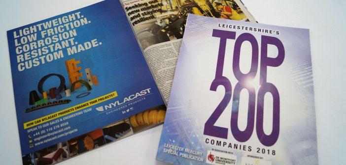 Nylacast named as one of Leicestershire's Top 200 companies