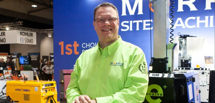 New Managing Director took the spotlight at the EHS for Morris Site Machinery