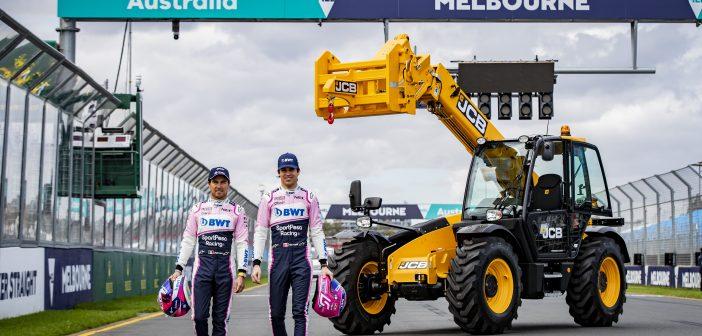 JCB Loadall telescopic handlers are under starter's orders for the Australian Grand Prix