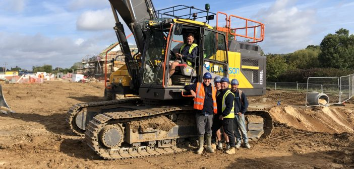 DS Watson Civil Engineering (Anglia) Ltd make a significant investment in a range of Volvo excavators