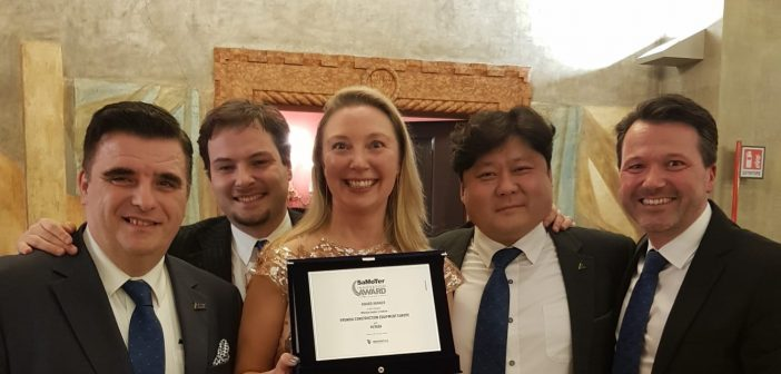 Hyundai  wins Samoter Technical Innovation Award in the 'Medium Wheel Loaders' category