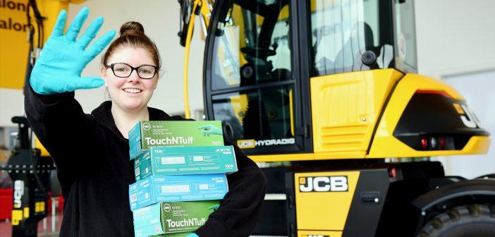 JCB lends a hand as Royal Stoke Hospital appeals for gloves