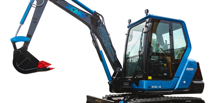 XCMG electric excavator powered by Cummins