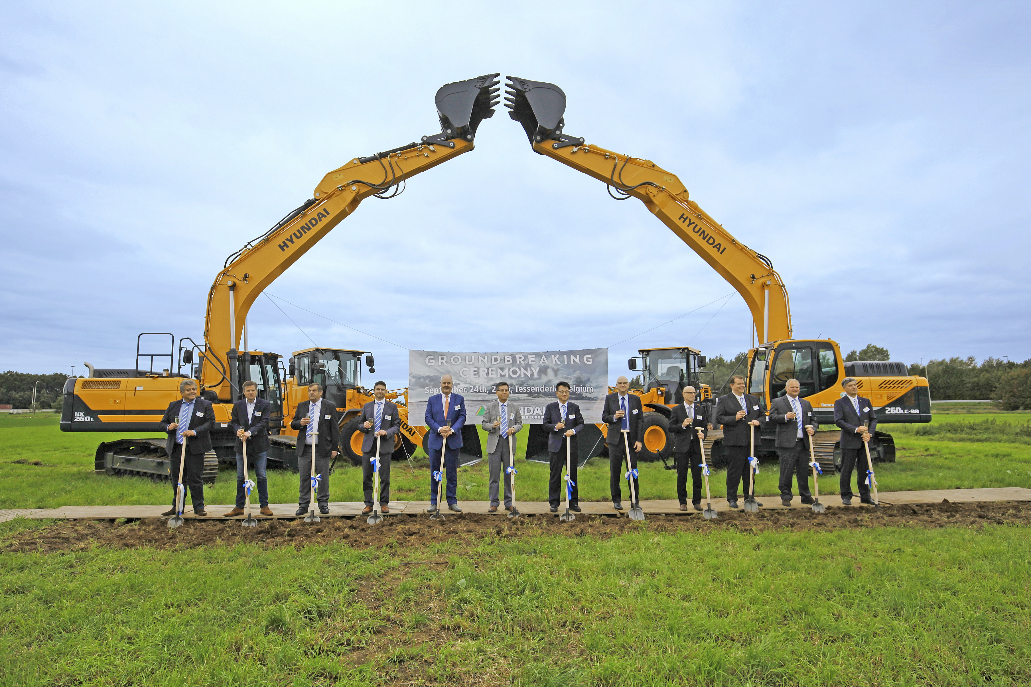 Hyundai Heavy Industries Europe Holds Groundbreaking