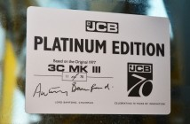 JCB is producing 'Platinum Edition' backhoe loaders to mark its 70th anniversary .