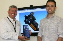 Keith Moody and Chris Bradley of Miller with the Hewden Supplier Innovation Award