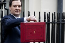 The Chancellor George Osborne Prepares To Give His Budget To Parliament