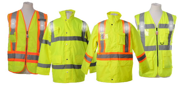 Ongrade and Visijax create proximity warning jacket that lights up near approaching vehicles.